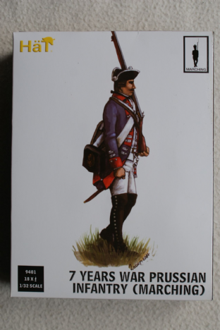 Hat 1/32 HAT9401 Prussian Infantry Marching (7 Year War)